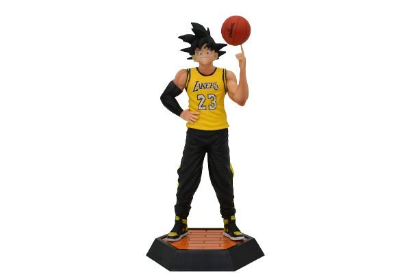 Estátua Goku Versão Lakers Basketball - Dragon ball
