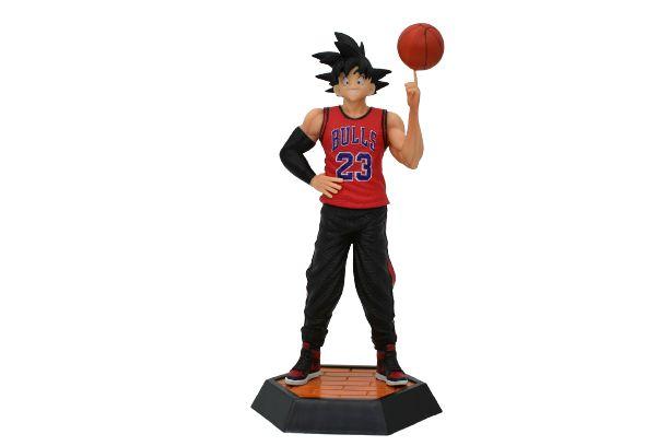 Estátua Goku Versão Bulls Basketball - Dragon ball