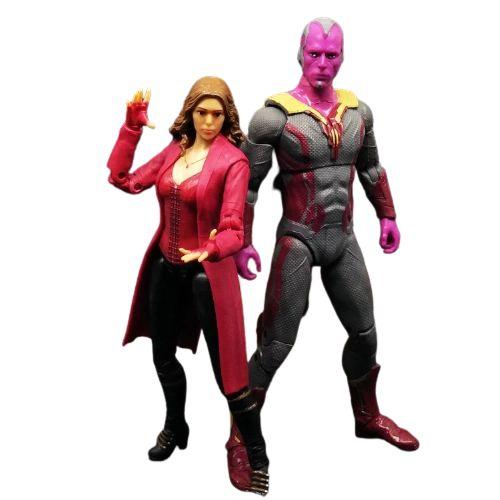 Kit com 2 Action Figures Feiticeira Escarlate e Visão - Wanda Vision