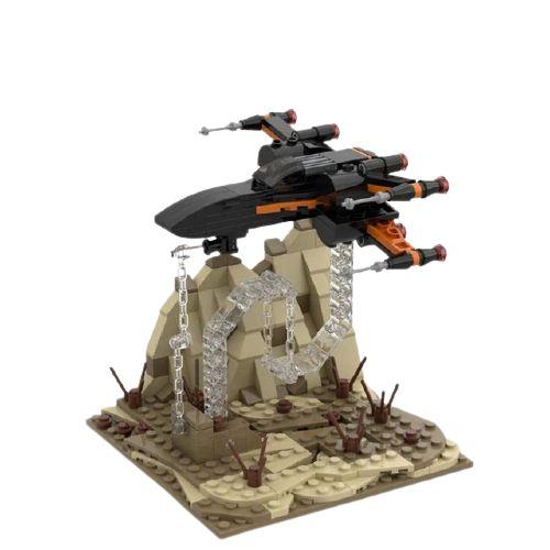 Nave T 85 X Wing 280 peças Star Wars - Blocos de Montar