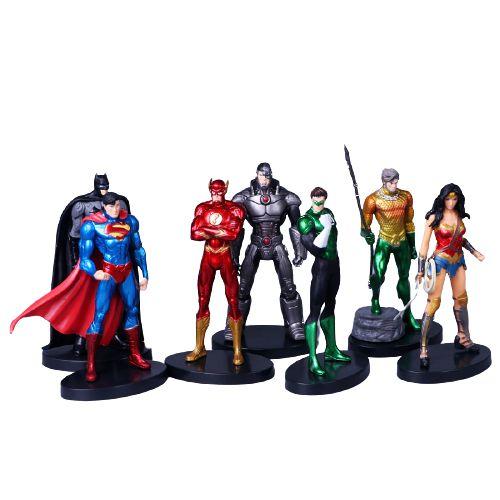Kit 7 Personagens Liga da Justiça - Dc Comics