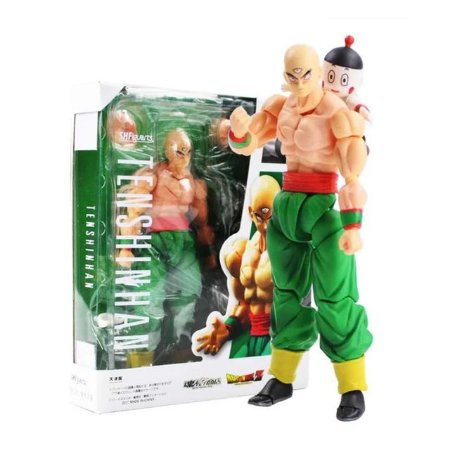 Boneco Tenshinhan e Chaos Action Figure Dragon Ball Articulado