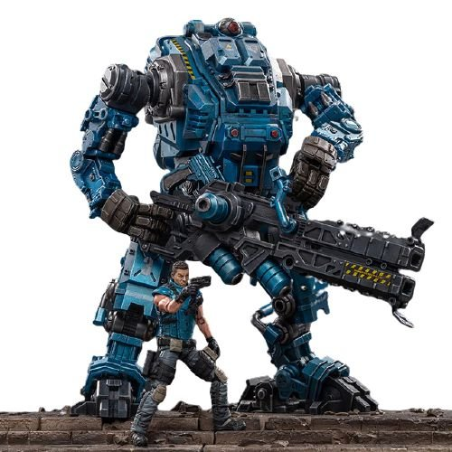 Joytoy Steel Bone Boneco Robô Action Figure Ver. Bone Blue