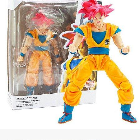 Action Figure Boneco Goku SSJ God - Dragon Ball Super