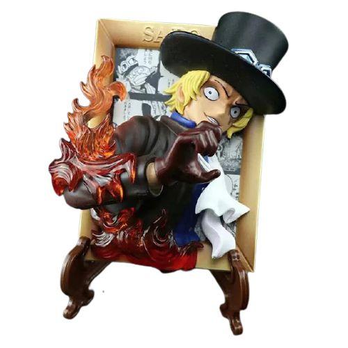 Quadro 3D Sabo Com Suporte 13 Cm - One Piece