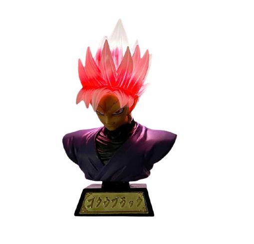 Busto Goku Black Super Saiyajin Com LED Dragon Ball Super - Animes Geek