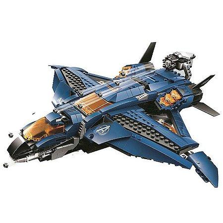 O Extraordinário Quinjet dos Vingadores 840 peças - Blocos de Montar