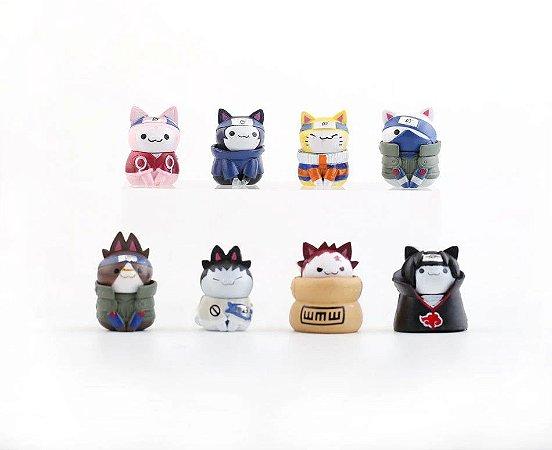 Naruto Nyaruto Cats da vila da Folha Kit com 8 peças - Animes Geek