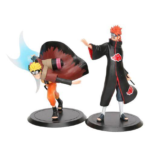 Kit 2 personagens Naruto Shippuden Pain e Naruto Modo Sábio - Animes Geek