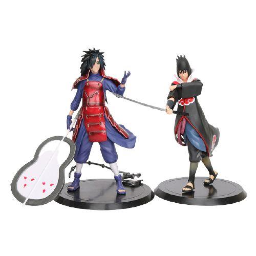 Kit 2 personagens Naruto Shippuden Madara e Sasuke - Animes Geek