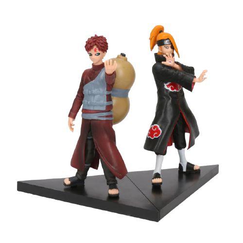 Kit 2 personagens Naruto Shippuden Gaara e Deidara - Animes Geek