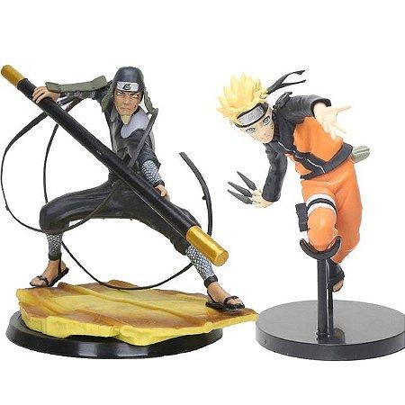 Kit 2 personagens Naruto Shippuden Sarutobi e Naruto - Animes Geek