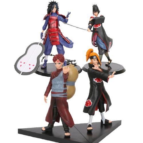 Kit 4 Personagens Naruto Shippuden 15 cm MODELO 2 - Animes Geek
