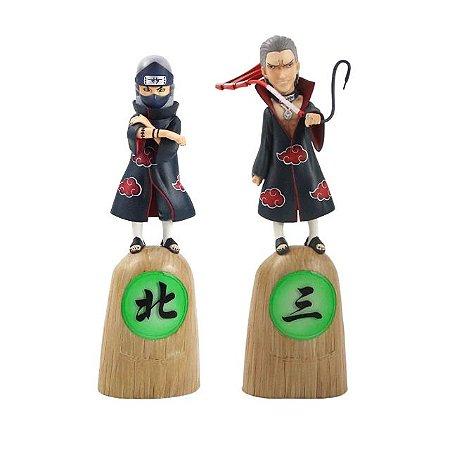 Kit 2 personagens Akatsuki Hidan e Kakusu - Naruto Shippuden