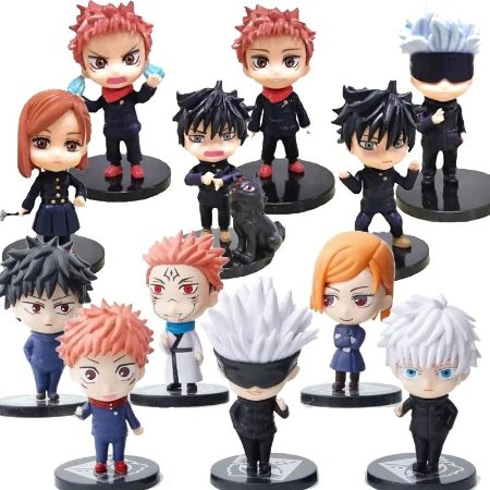 Kit 12 Personagens Jujutsu Kaisen 8 cm - Animes Geek