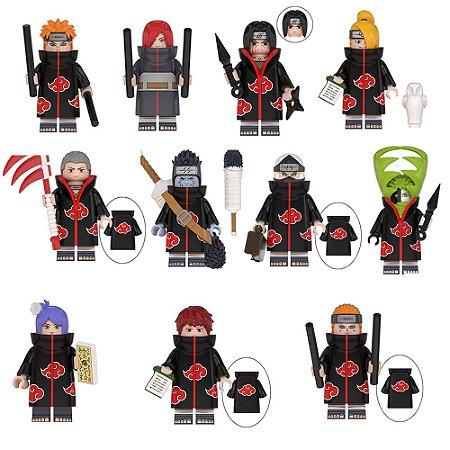 Kit Completo com 16 personagens Naruto Shippuden - Blocos de Montar