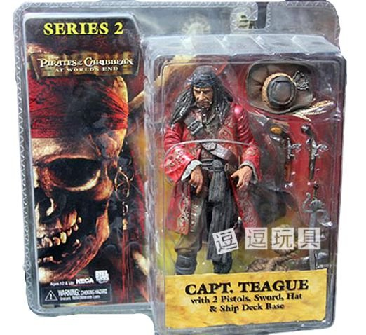 Action Figure Capitão Edward Teague Piratas do Caribe - Neca