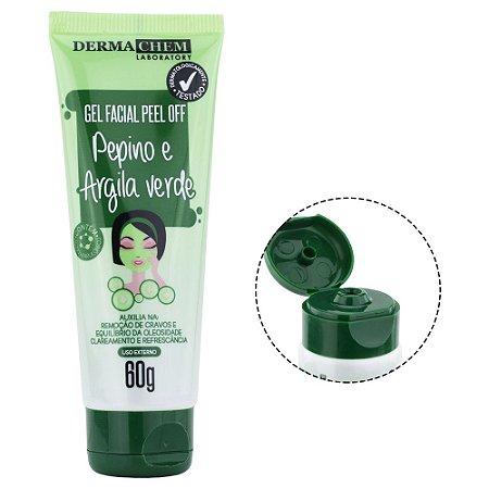 Gel Facial Peel Off Pepino e Argina Verde Dermachem