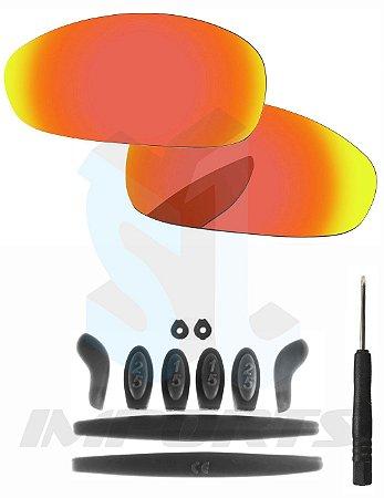 0a30450a79eaf Lentes Ruby e Kit de Borracha Preto - Para Oakley Juliet - SL IMPORTS