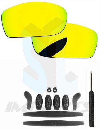 7b7c53bee7873 Lentes Yellow Sun e Kit de Borracha Preto - Para Oakley X-Squared ...