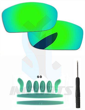 Lentes Varejeira e Kit de Borracha Verde Escuro - Para Oakley X-Squared 90ed9d209a