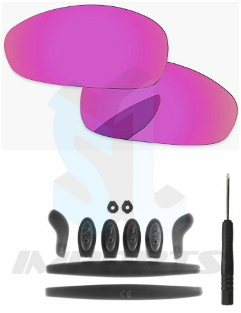 a2aaaf1a3 Lentes Pink e Kit de Borracha Preto - Para Oakley Juliet - SL IMPORTS