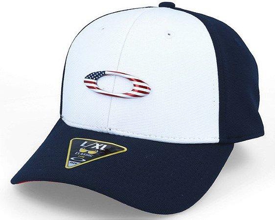 Boné Oakley Tincan - Simbolo Estados Unidos - Branco e Azul - S M Médio e363df805b8