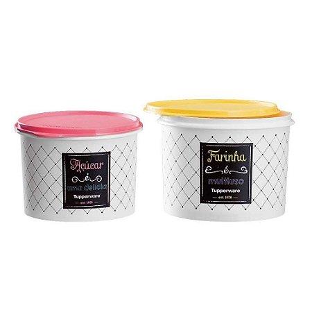 Tupperware Kit Par Perfeito Tupper Caixa Açúcar e Farinha Bistrô
