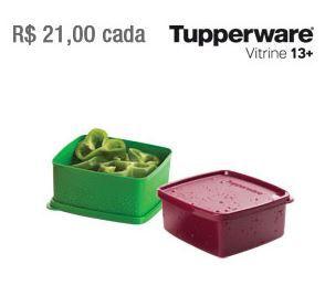 Tupperware Kit 2 Jeitosinhos Marsala e Verde 500 ml