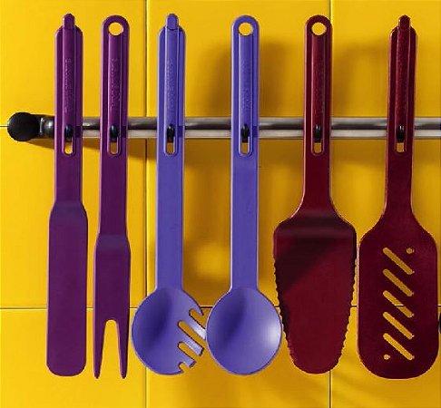 Tupperware Kit 6 peças Utensílios 3 em 2