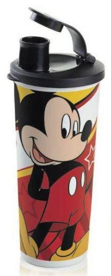 Tupperware Copo com Bico Mickey 470 ml Tampa Preta