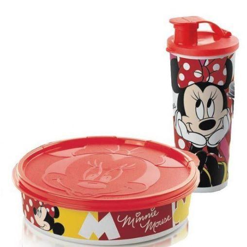 Tupperware Kit 2 peças Minnie Tampa Vermelha
