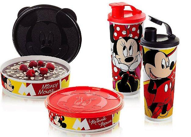 Tupperware Kit 4 peças Minnie e Mickey