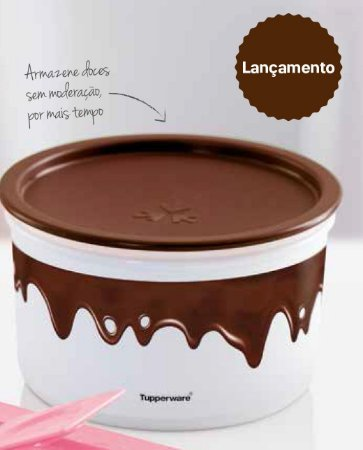 Tupperware Pote Master Chocolate 1,5 Litro Tampa Chocolate