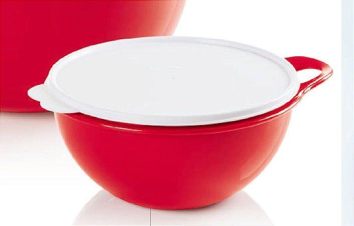 Tupperware Criativa Vermelha 3 Litros Tampa Branca