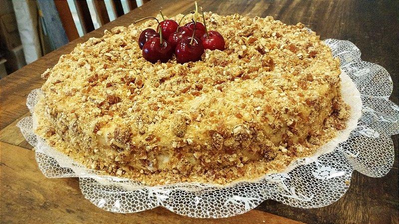 Torta Crocante com Doce de Leite
