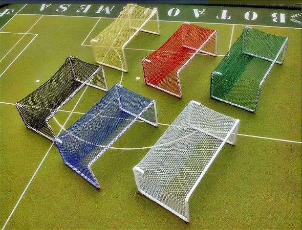 Par De Traves Coloridas Para Futebol De Mesa/botão