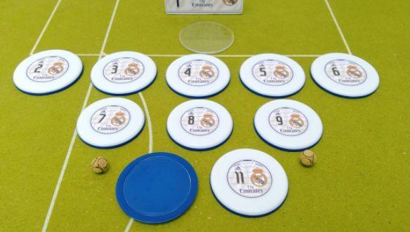 Time De Botão Real Madri (5 Atacantes + 5 Zagueiros)