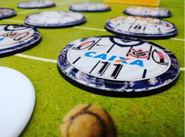 Time de Botão Corinthians arte embutida)