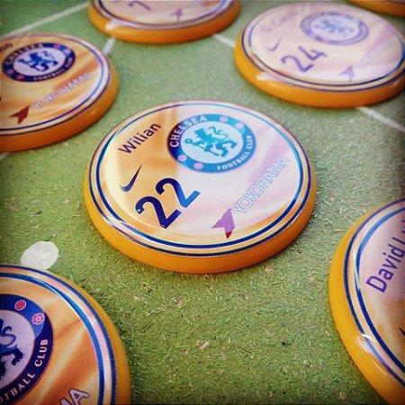 Time de Botão Chelsea amarelo