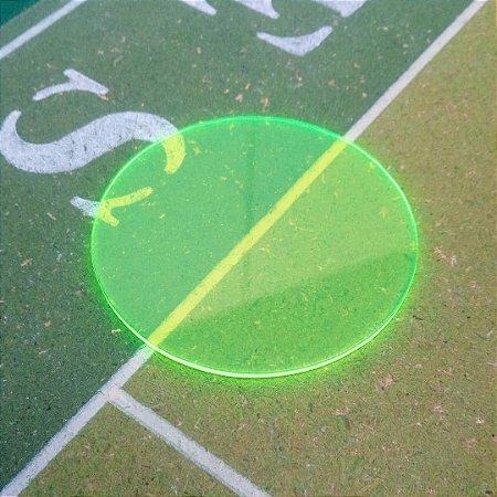 Palheta em acrílico 2 mm Neon Verde limão