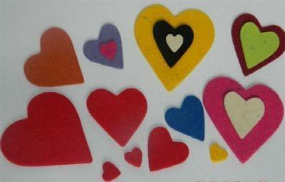 Coração - Kit Com 5 Peças
