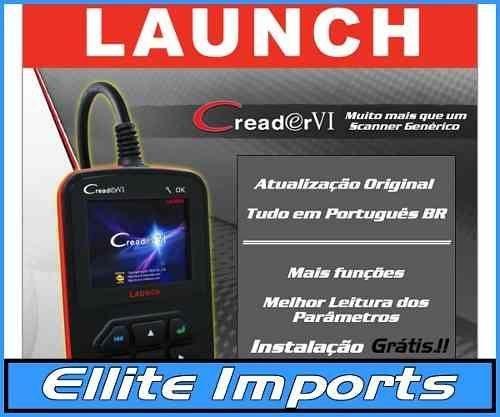 Launch Creader 6 Atualização Português Br +instalação Grátis