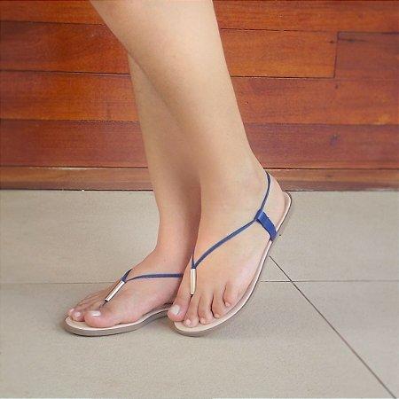Sandália Dedinho Azul Marinho