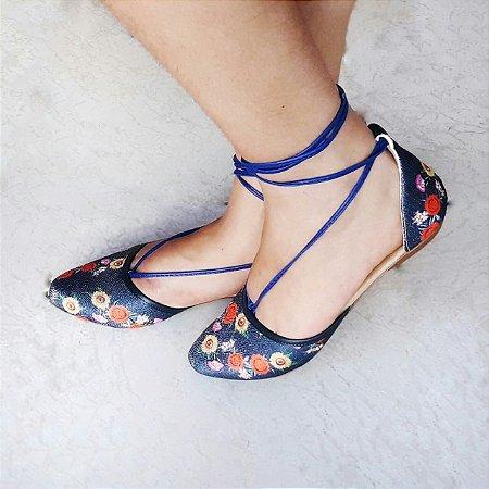Sapatilha SF Eva Floral Azul