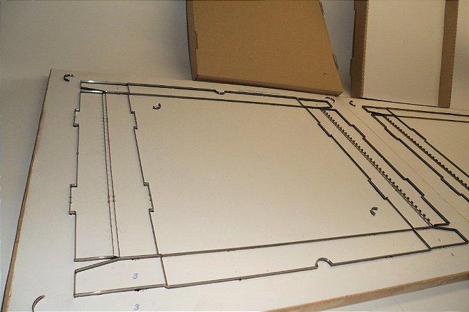 Faca para Caixa de Pizza Quadrada 35x35x4 c.m