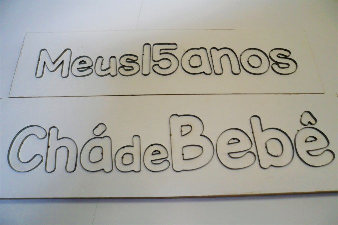 Faca para Alfabeto, frases, letras ou números decorativos em EVA