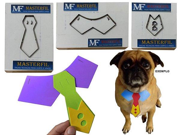 Kit 3 Facas - Gravatinha Pet + Gola Pet + Colete Pet