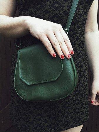 Bolsa tiracolo em couro verde