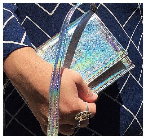 Bolsa Prata Holográfica pequena